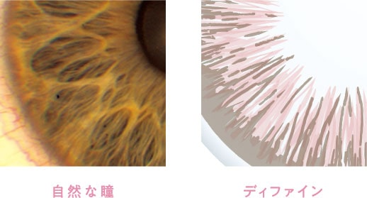 自然な瞳とディファイン比較