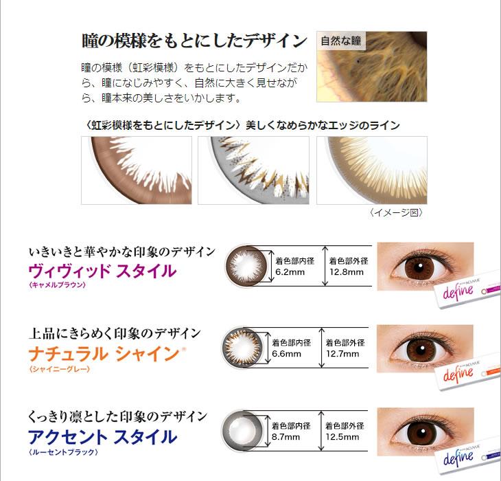 瞳の模様をもとにしたデザイン